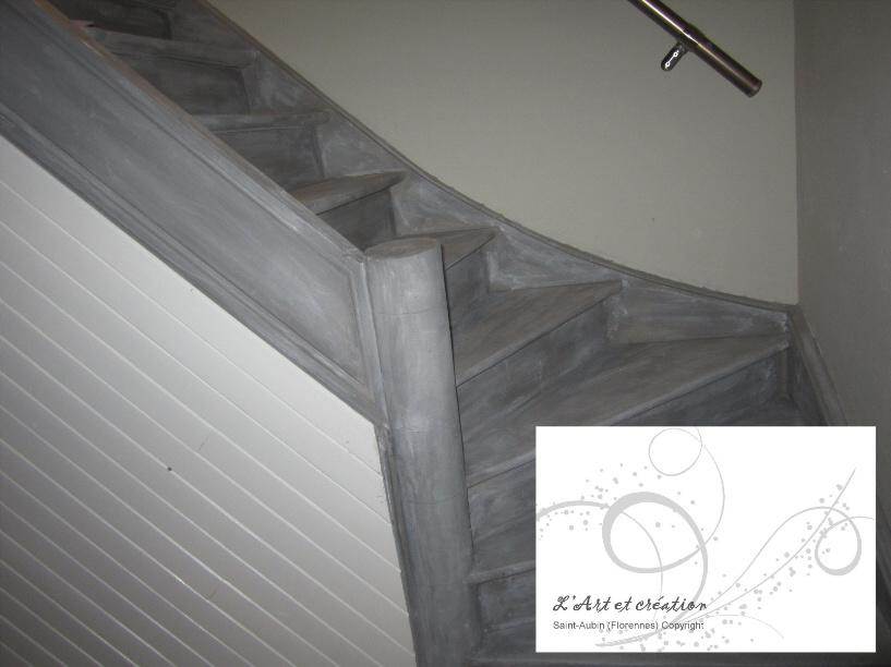 peindre un escalier en blanc ceruse